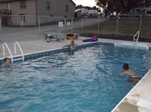 New campground pool